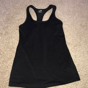 Black fitted tank top